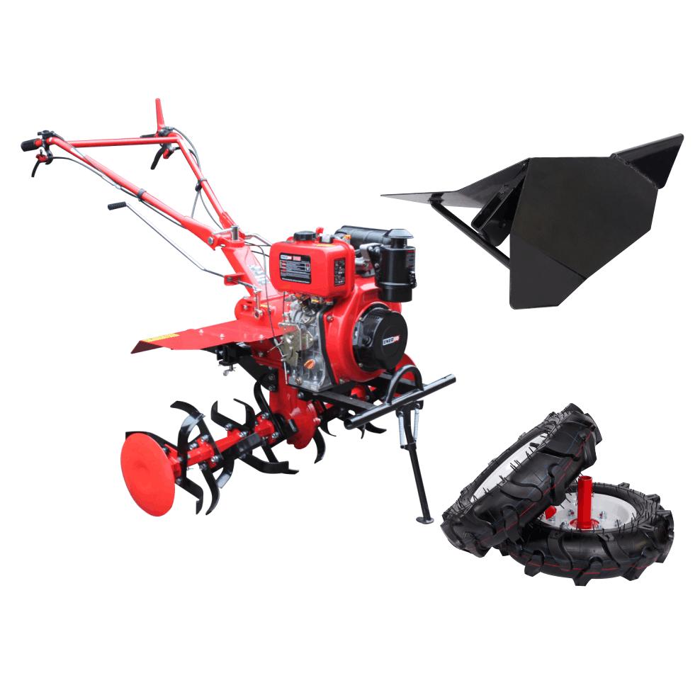 MOTOCULTOR DIESEL 7CP H105E + ROTI CAUCIUC + RARITA ENERGO